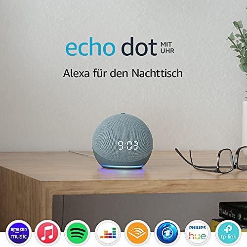 1624388998 Echo Dot 4 Generation Smarter Lautsprecher mit Uhr und