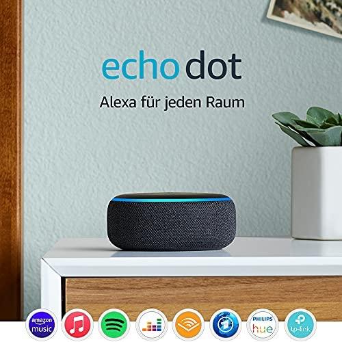 Echo Dot 3 Gen Intelligenter Lautsprecher mit Alexa Anthrazit Stoff