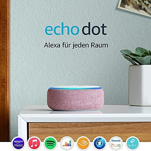 Echo Dot 3 Gen Intelligenter Lautsprecher mit Alexa Lila Stoff