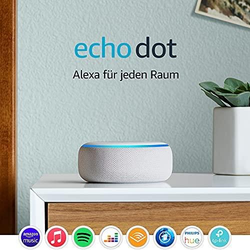 Echo Dot 3 Gen Intelligenter Lautsprecher mit Alexa Sandstein Stoff