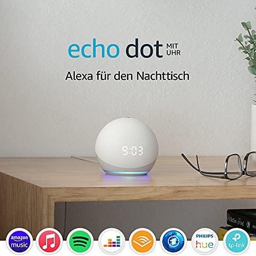 Echo Dot 4 Generation Smarter Lautsprecher mit Uhr und