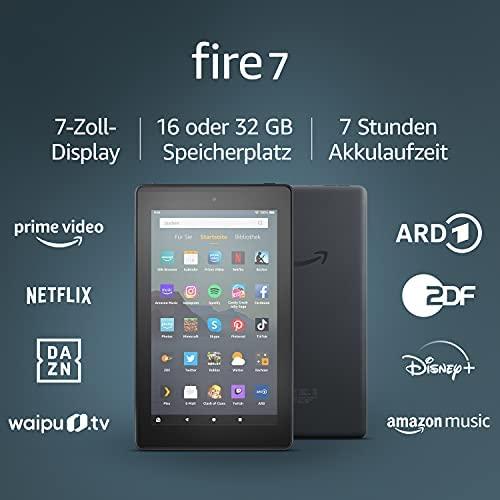 Fire 7 Tablet 7 Zoll Display 16 GB Schwarz Mit Werbung