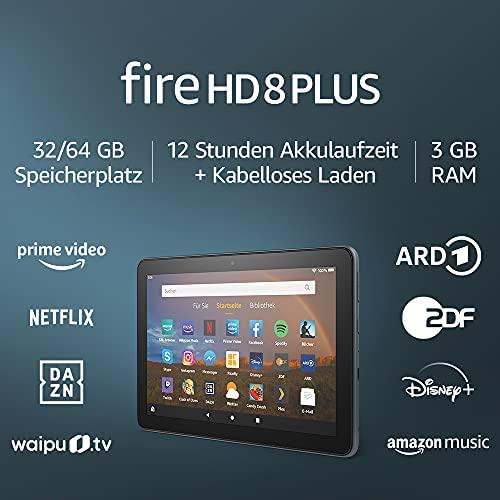 Fire HD 8 Plus Tablet 8 Zoll HD Display 64 GB Schiefergrau Ohne Werbung