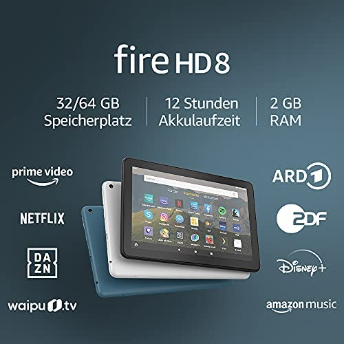Fire HD 8 Tablet 8 Zoll HD Display 32 GB Dunkelblau Mit Werbung fuer