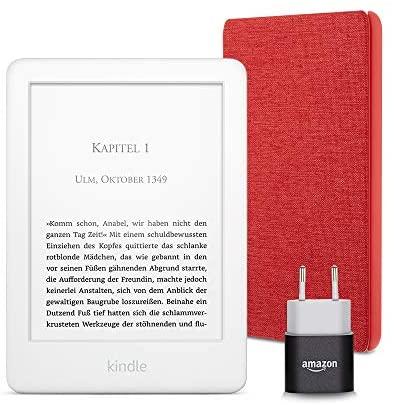 Kindle Essentials Bundle mit einem Kindle Weiss mit Spezialangeboten einer