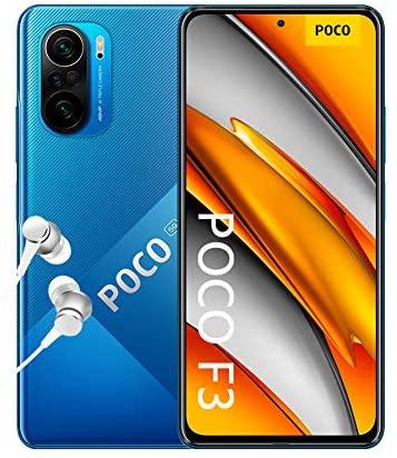 "POCO F3 5G Smartphone + Kopfhörer (16,94cm (6,67"") AMOLED Display 120Hz, 6GB+128GB Speicher, 48MP Quad-Rückkamera, 20MP Frontkamera, Dual-SIM, Android 11) Blau - [Exklusiv bei Amazon]"