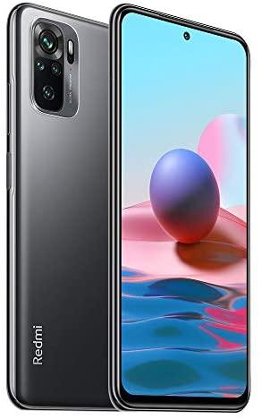 Xiaomi Redmi Note 10 Smartphone, RAM 4 GB, ROM 128 GB, 16,33 cm (6,43 Zoll), AMOLED DotDisplay, 48 MP Weitwinkelkamera, 5000 mAh (Typ), Akku 33 W Schnellladung, Grau