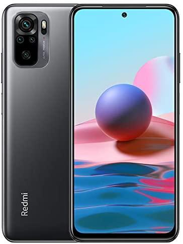 Xiaomi Redmi Note 10 Smartphone mit 16,4 cm (6,43 Zoll), Dual-Lautsprecher, 4 GB RAM + 64 GB ROM, Kamera, Ultra-Weitwinkel und Makro-Objektiv, Qualcomm Snapdragon 678 Octa-Core-CPU (Grau)