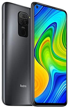 Xiaomi Redmi Note 9, 4 GB, 128 GB Smartphone, 48 MP Vierfach-Kamera, MTK Helio G85 Octa Core 16,59 cm (6,53 Zoll), FHD Handy, Schwarz (Black).