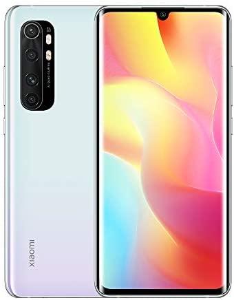 Xiaomi Mi Note 10 Lite Smartphone 6 GB RAM 128 GB ROM, 6.47 Zoll FHD 3D AMOLED Display, Quad Kamera (64 MP + 8 MP + 5 MP + 2 MP) Glacier White