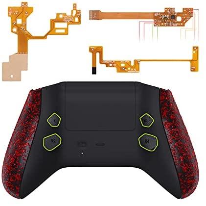 eXtremeRate Hope Programmierbares Remap Kit für Xbox Series X&S Controller, Upgrade-Boards,Rückseites Case,Seitenschienen,Knöpfe für Xbox Core-Controller Nicht enthalten(Rot Texturiert)