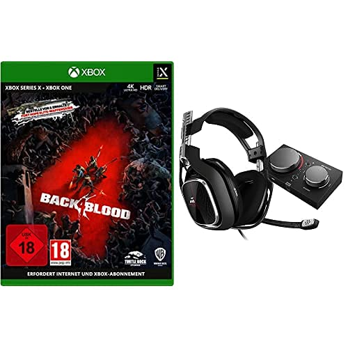 ASTRO Gaming A40 TR Gaming Headset + MixAmp Pro TR, 4e Gen, Astro Audio V2, Dolby Audio, Dolby ATMOS, Verwisselbare Mic, Game/Voice Balance Control, Xbox Series X S, Xbox One, PC, Mac - Zwart/Rood