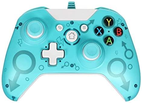 GZW-Shop Kabelgebundener Controller Gamepad für Xbox One, Xbox One S, Xbox One X, Xbox Series X,Windows PC Controller mit Dual-Vibration (Green)