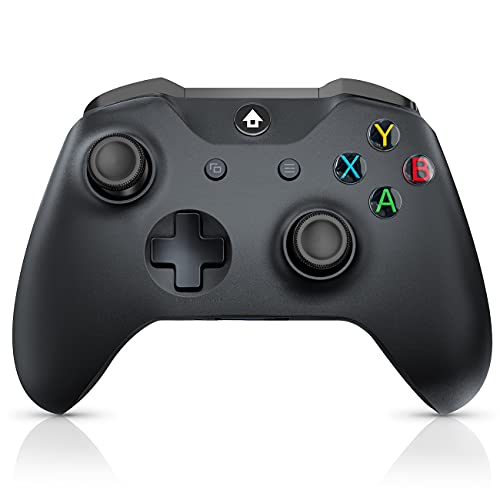 JORREP Xbox One Controller, Wireless Xbox Controller für Xbox Series S / X, Xbox One, PC Windows 7/8/10, Kabelloses PC-Gamepad mit Audiobuchse-Schwarz