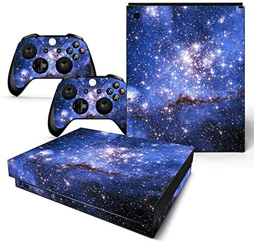 Mcbazel Pattern Series Skin Sticker for Xbox One X Console and Controller Galaxy