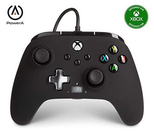Verbesserter kabelgebundener PowerA-Controller für Xbox– Schwarz