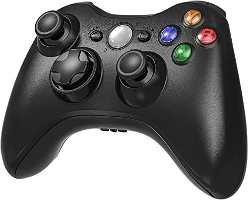 Xbox 360 Wireless Controller, 2.4 GHz Game controller für Xbox 360 Konsole und Pc Windows 7, 8, 10 (Schwarz)
