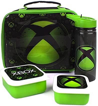 Xbox-Lunch-Tasche 4 Stück (Lebensmitteltasche Wasserflasche 2 Snacktöpfe) Einheitsgröße