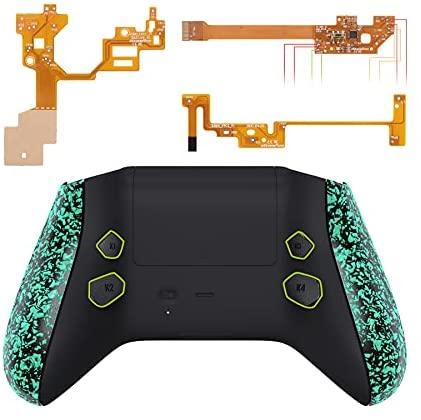 eXtremeRate Hope Programmierbares Remap Kit für Xbox Series X&S Controller, Upgrade-Boards,Rückseites Case,Seitenschienen,Knöpfe für Xbox Core-Controller Nicht enthalten(Hellgrün Texturiert)