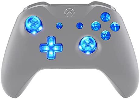 eXtremeRate Leuchttasten für Xbox One Controller,Tasten Knöpfe Buttons D-pad Thumbsticks ABXY Buttons Menü-/Ansicht-Tasten LED Kit für Xbox One Standard,Xbox One S X Controller[DTF]-Leuchttasten